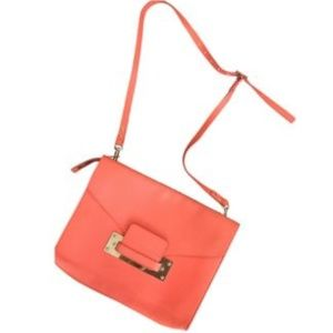 Sophie Hulme Envelope Clutch Shoulder Bag Orange